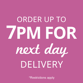 Order up to 2pm for same day delivery to Woodbridge
