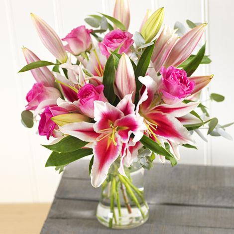 Buy flowers online flower delivery iflorist pink lilies roses mightylinksfo